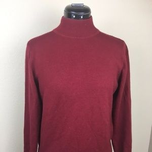 Charter Club Cranberry Wool Sweater