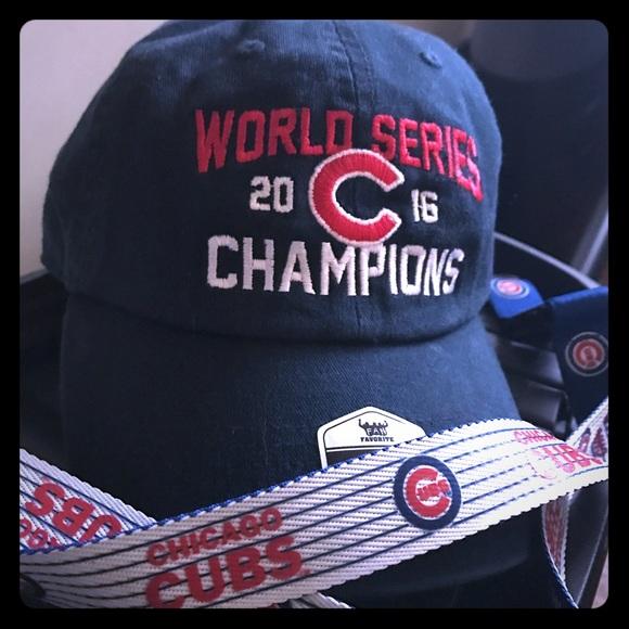 Accessories - Chicago Cubs 2016 World Series cap   lanyard. dc6811ddf66