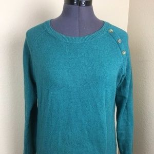 Talbots Teal Knit Sweater