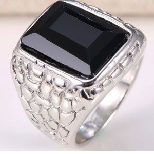 634aec7fa649 Jewelry - Onyx Stainless Steel Ring Various sizes available