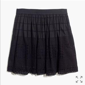 Madewell eyelet skirt