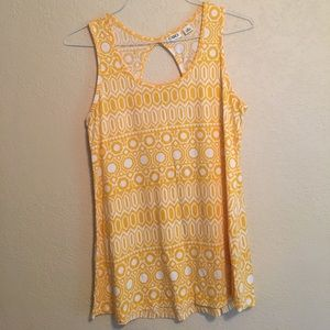 Cato's Yellow Patterned Tank M