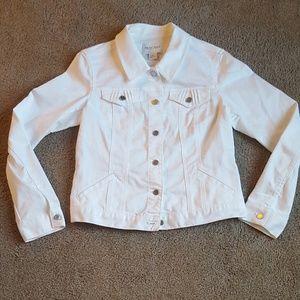 White Denim White House Black Market Jacket