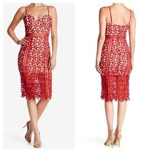 Just Me Crocheted Lace Sheath Dress NWT