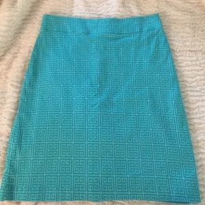 Turquoise Sz 2 Dizzy Lizzie Lined Career PERFECT