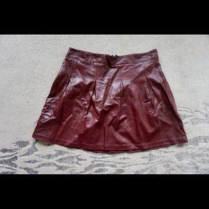 Love & Liberty Oxblood Pleather Skirt