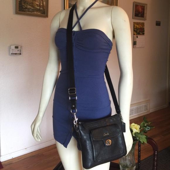 eeceb3522dc Coach penelope black leather small crossbody bag