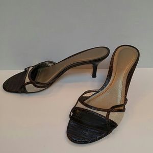 Ann Taylor Shoes - Classic faux alligator kitten heels!