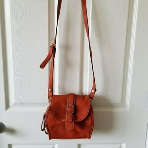Forever 21 Burnt Orange Crossbody Purse Bag Buckle