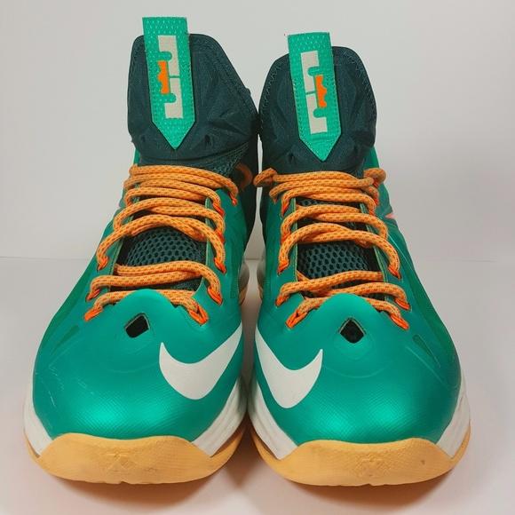 688c5221083 Nike Lebron X Dolphins size 10. M 598dea2f2599fec306085b1c
