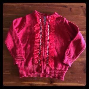 Red Embellished Cardigan