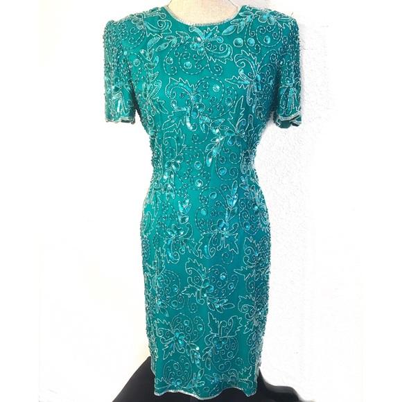 Vintage Dresses - Gorgeous vintage beaded sequin cocktail dress