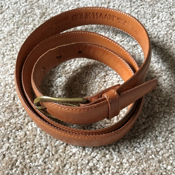 46f2ba3a7b4 Cole Haan Light Brown Leather Dress Belt Size 40
