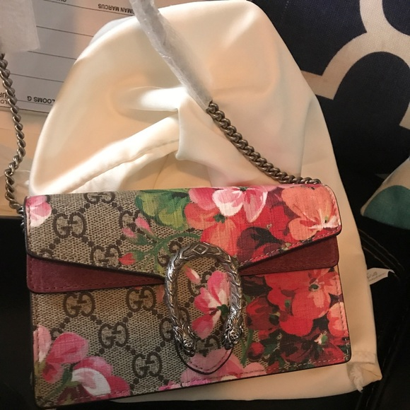 1f44e075e47f Gucci Bags | New Dionysus Gg Blooms Super Mini Bag | Poshmark