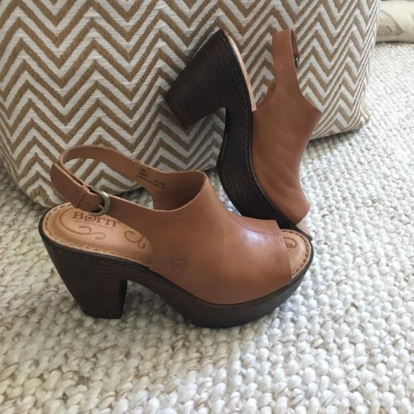3b5c78cb1e53 Born Shoes - Born Fatema peep toe platform sandals (Sz 6)