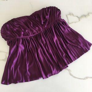 PHILLIP LIM 3.1 ~ silk purple pleated top size S