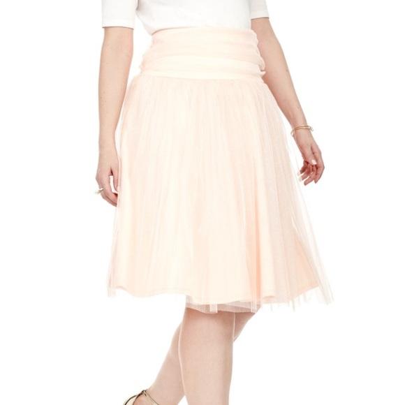 Kiyonna Dresses & Skirts - KIYONNA Peach Twirling In Tulle Skirt