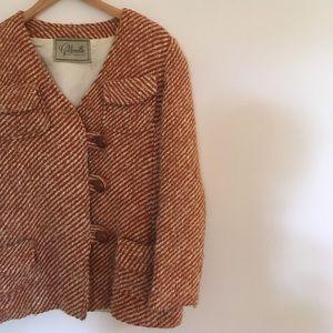 Vintage wool blazer jacket
