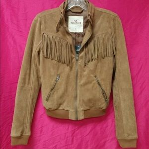NWT ~ Hollister Suede Bomber Jacket ~XS