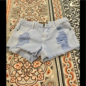 Pants - NWOT boutique baby blue shorts
