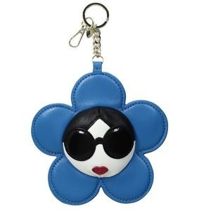 alice + olivia Stace Face large flower zip charm
