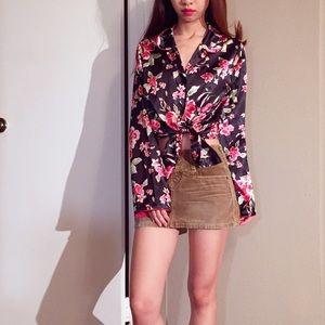 Adonna stain floral shirt