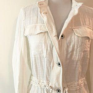 White Cotton Hei Hei Anorak Jacket