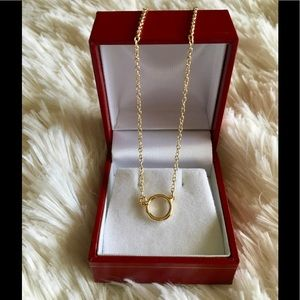 Jewelry - SALE 3 FOR $20 Karma Circle Gold Pendant Necklace