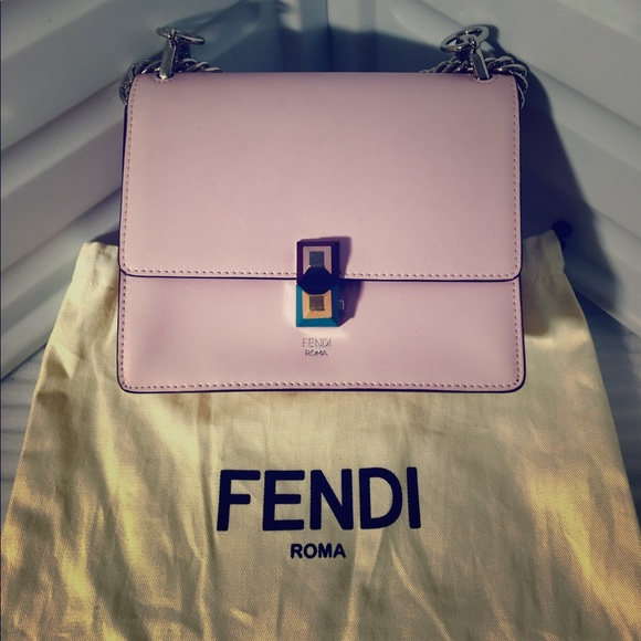 e79522c8e58d Fendi Handbags - Fendi Kan I Beige Leather Mini Shoulder Bag