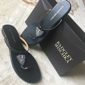 Bradgley Mischka 🌟Sandals🌟with Rhinestones