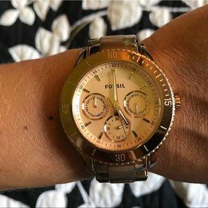 Fossil rose gold watch - super cute!