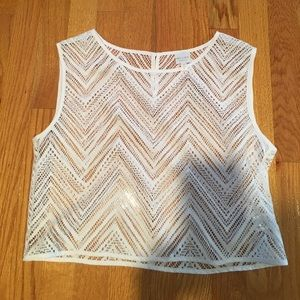 Milly cabana cover up lace top white s