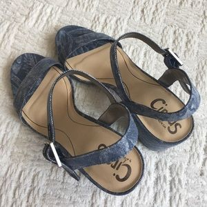 6f5bfb248d14 Circus by Sam Edelman Shoes - Circus by Sam Edelman Denim Ashton Strappy  Sandal