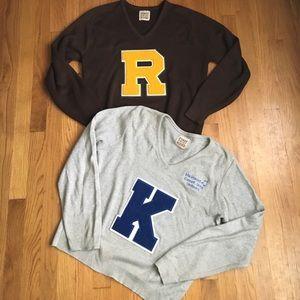 Initial varsity sweater
