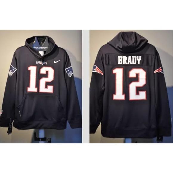 100% authentic 41b89 c32e2 Tom Brady Patriots jersey hooded sweatshirt NWT