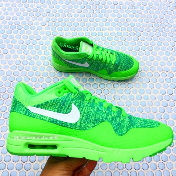 finest selection a3b23 f33dc Nike Air Max 1 Ultra Flyknit women s Green Brazil