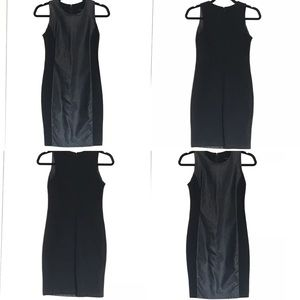 Dresses & Skirts - 🔥NEW BLACK LEATHER PANEL ZIP BACK DRESS🔥NWT🔥