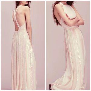 NWOT $350 Free People Apron Pleat Sequin Dress