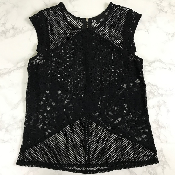 Mossimo Supply Co Tops - Mossimo Netted Lace Cap Sleeve Tank Top