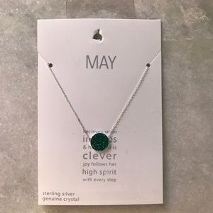 Jewelry - May Birthday month Crystal necklace