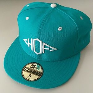 Other - New era Hall Of Fame turquoise hat cap Sz 8