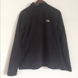 black women's north face pullover size L