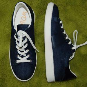 Sam Edelman Marquette Blue Denim Sneakers sz 7