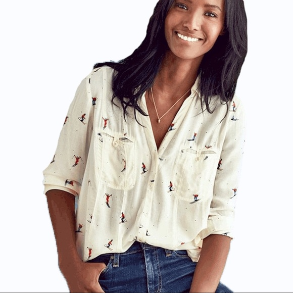 Anthropologie Tops - Anthropologie Ski Print Top