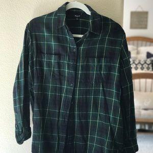 Madewell Plaid Oversized Boy Shirt