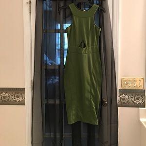 Dresses & Skirts - Sexy olive green dress