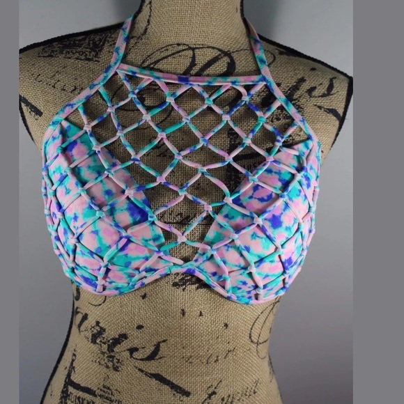 12fa4764b8 New Bikini Top 38DD Netting Sexy Light Push Up