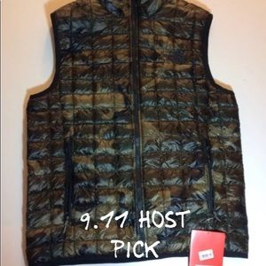 The North Face Thermoball Vest Green Camo Small