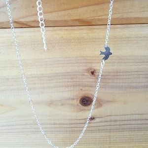 Dove Necklace in Silver New