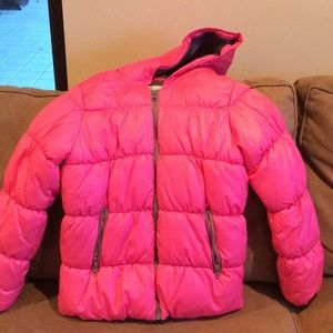 Girls Pink Puffer Winter Coat